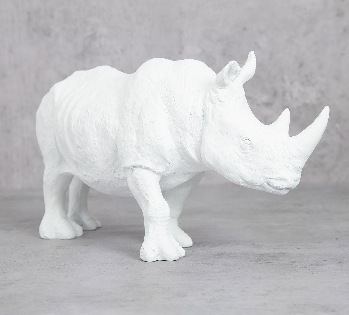 India Circus White Rhino Calf Figurine