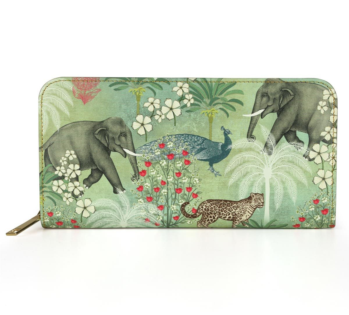 India Circus Wildlife Safari Ladies Zipper Wallet