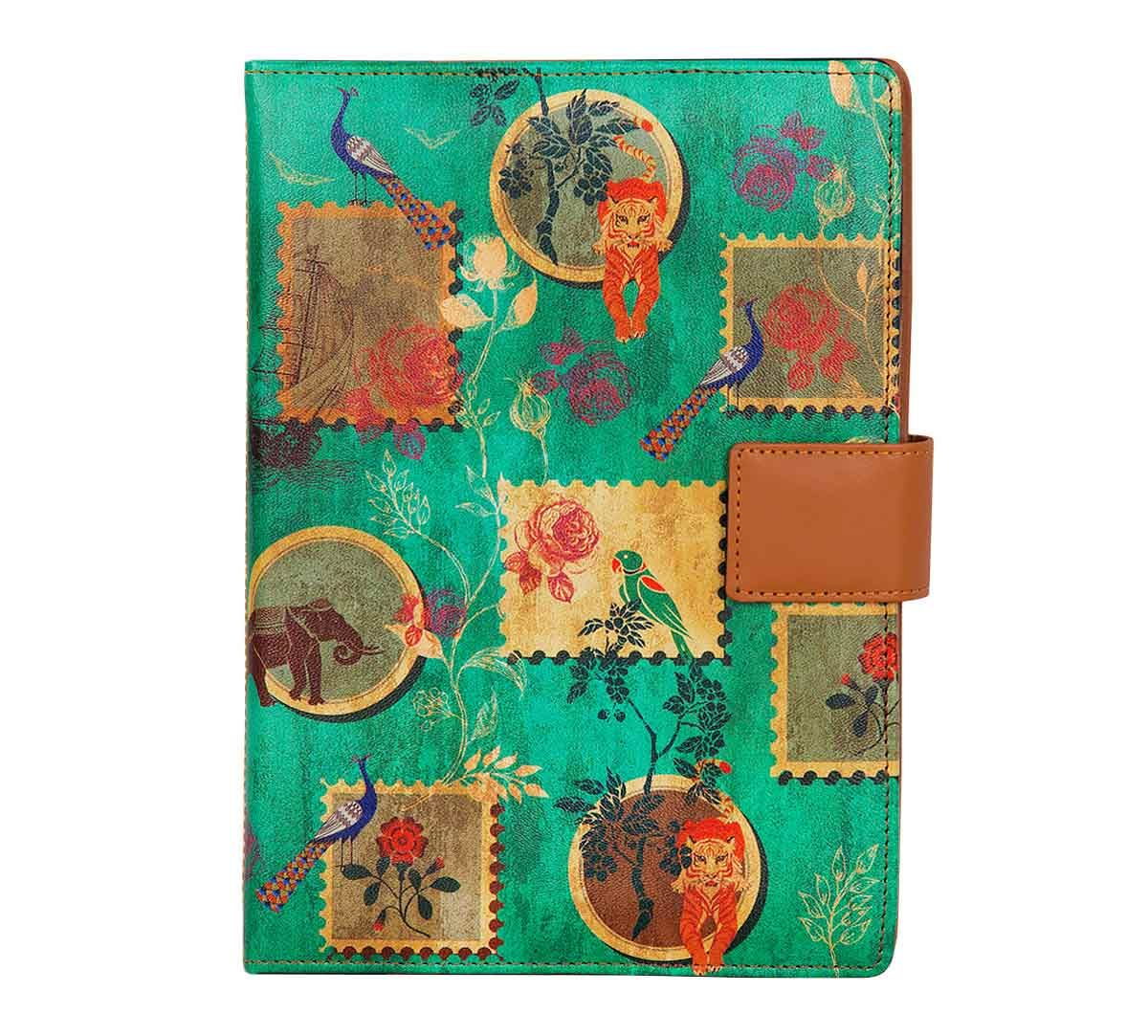 India Circus Wildlife Stamps Notebook Planner