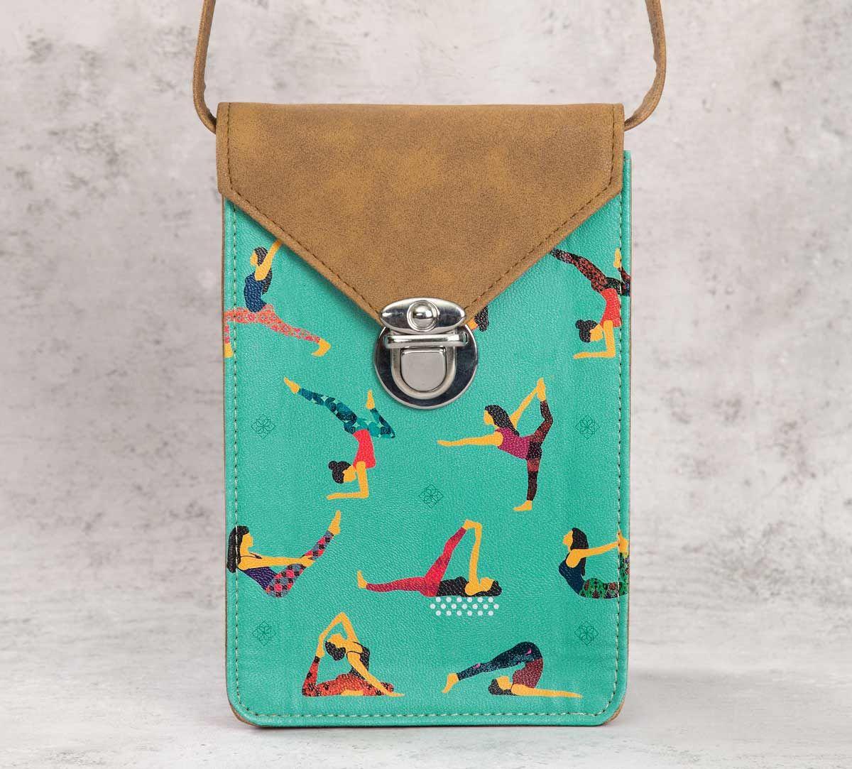 India Circus Yoga Emoji Mobile Sling Bag