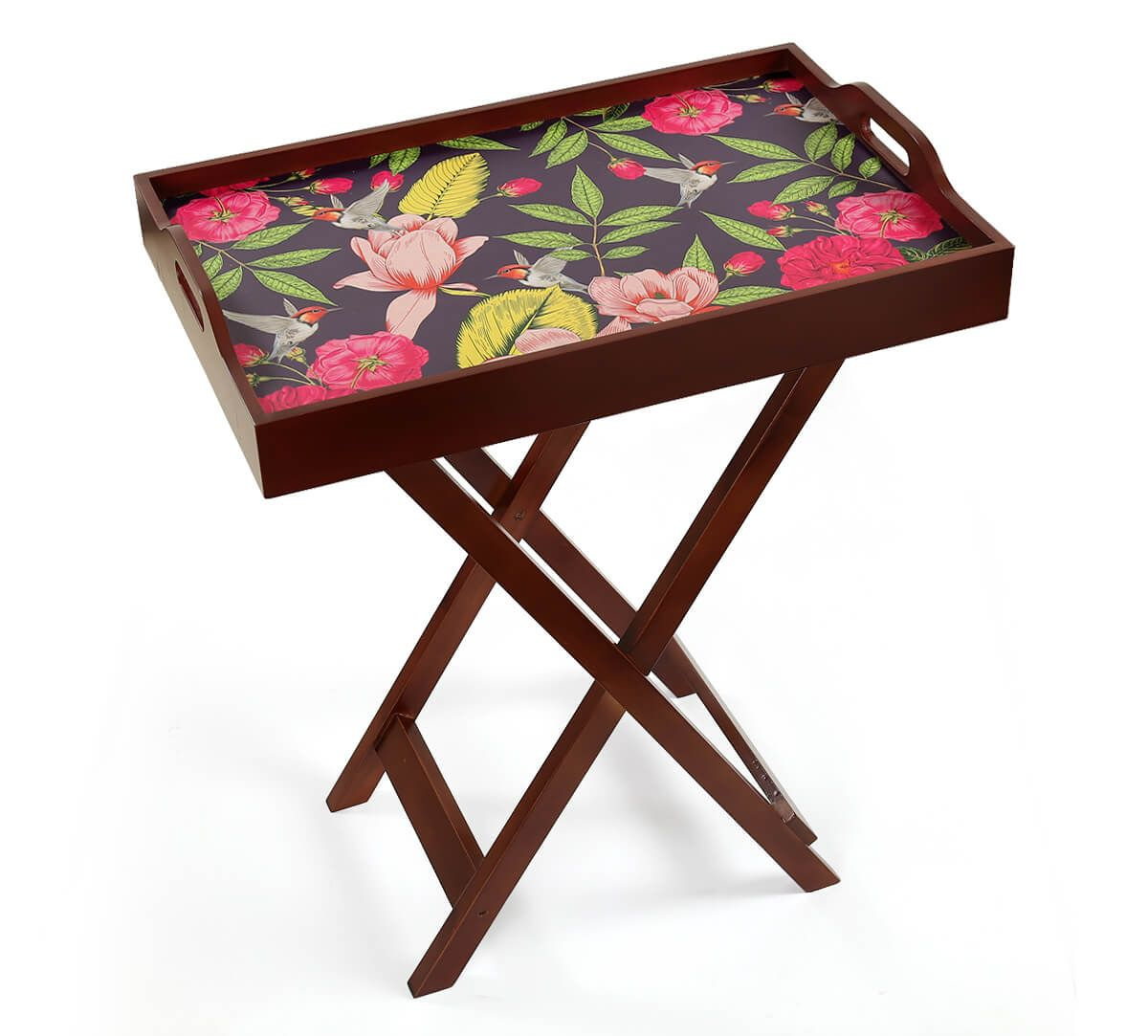 India Circus by Krsnaa Mehta Warbled Verdure Tray Table