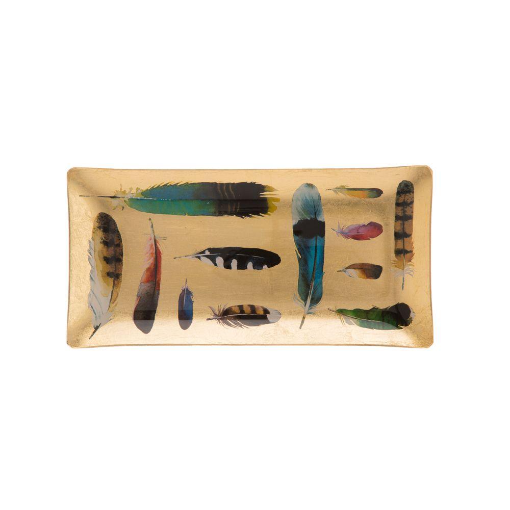 Kuheli Floating Feathers Decorative Platter
