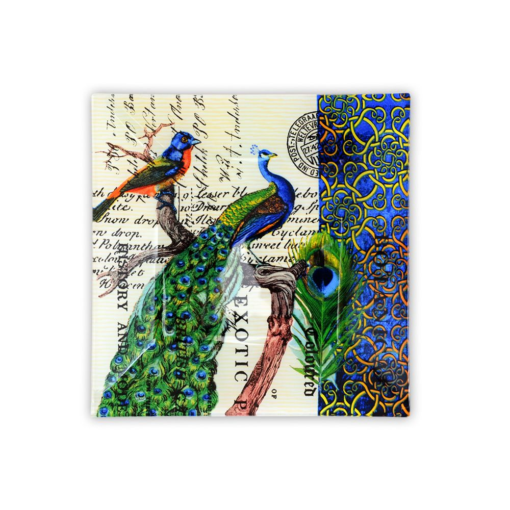 Kuheli Paradise Of Peacocks Decorative Platter