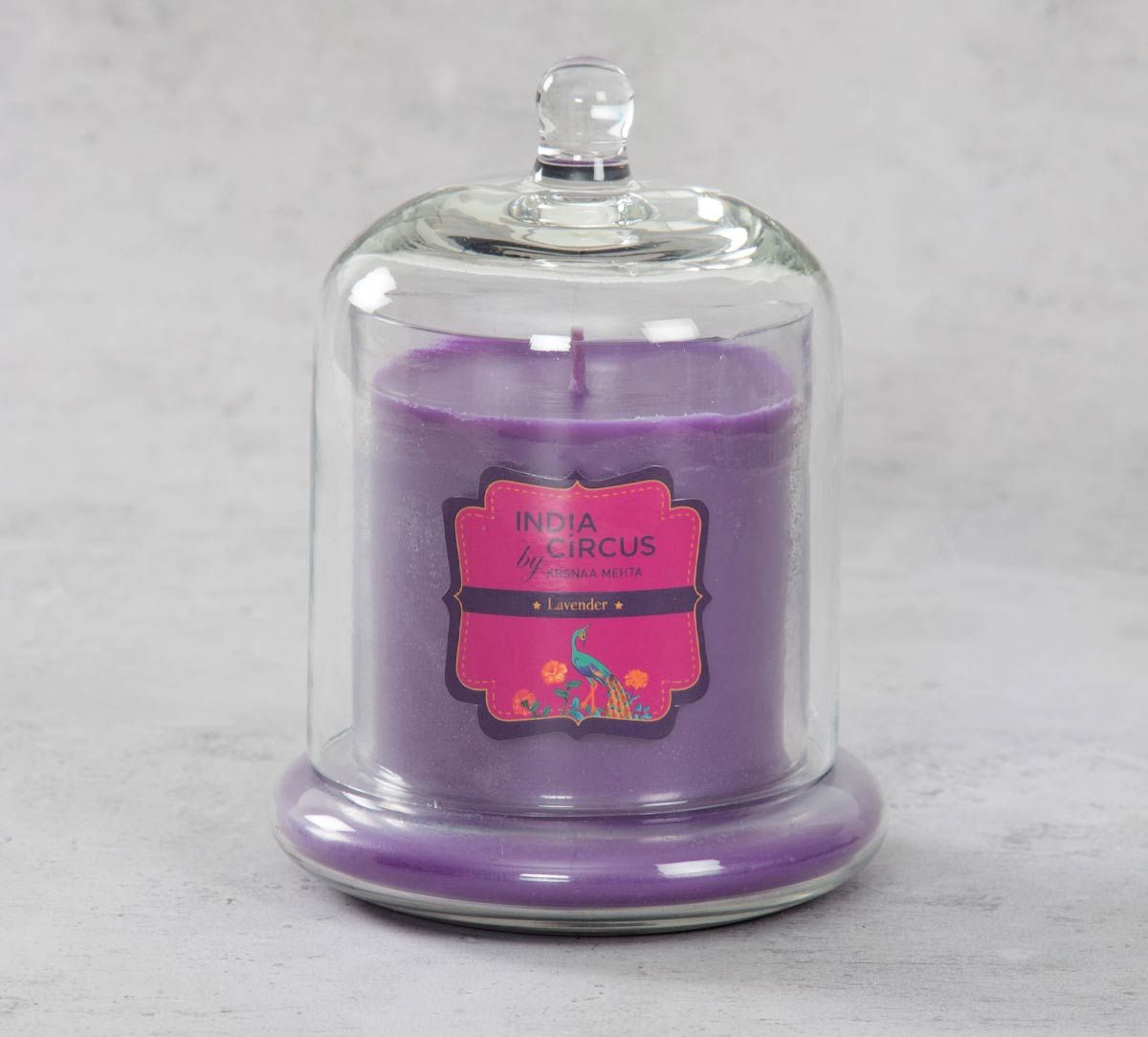 India Circus Lavender Glass Jar Scented Candle