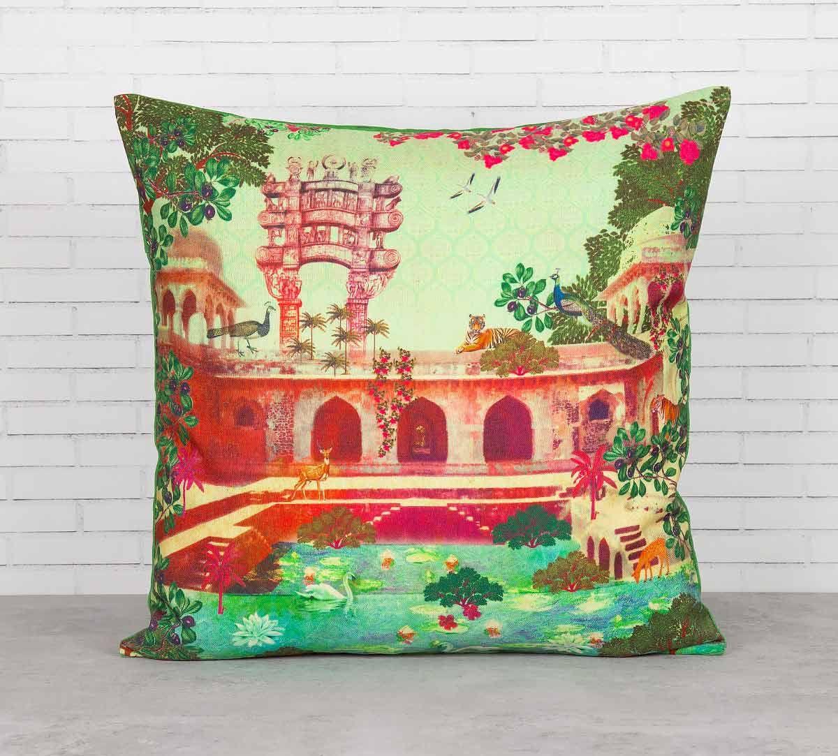 India Circus Mammalian Picnic Cushion Cover