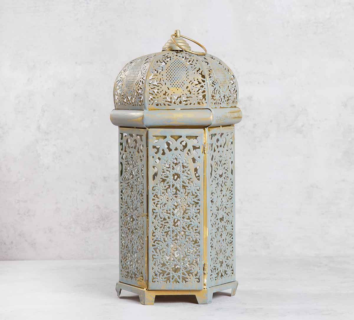 Metallic Silver Lantern