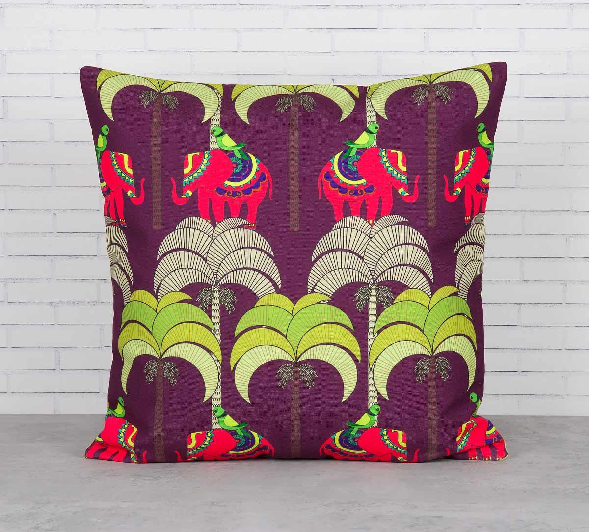 India Circus Palmeria Tusker Reiteration Cushion Cover