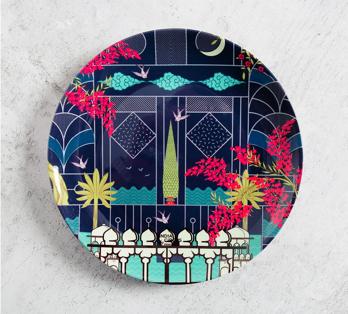 Portico of Divinty 8 inch Decorative and Snacks Platter