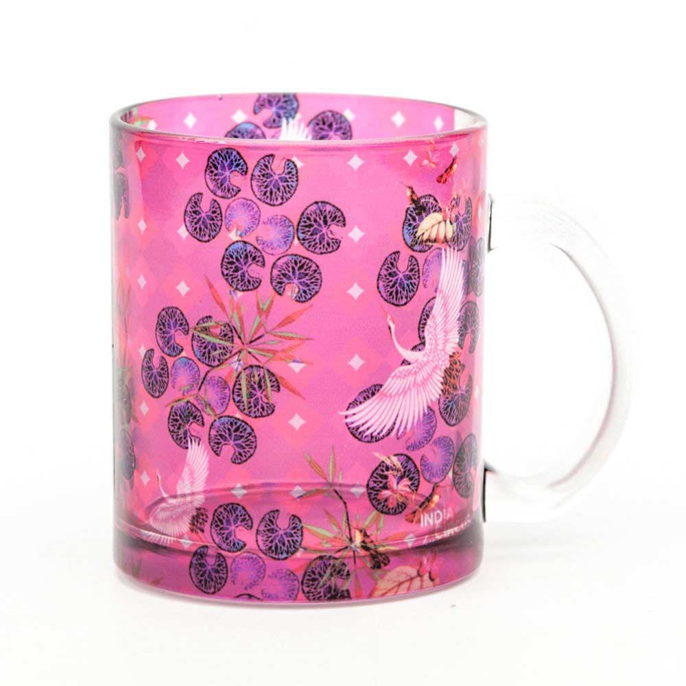 Red Paradise Glass Mug