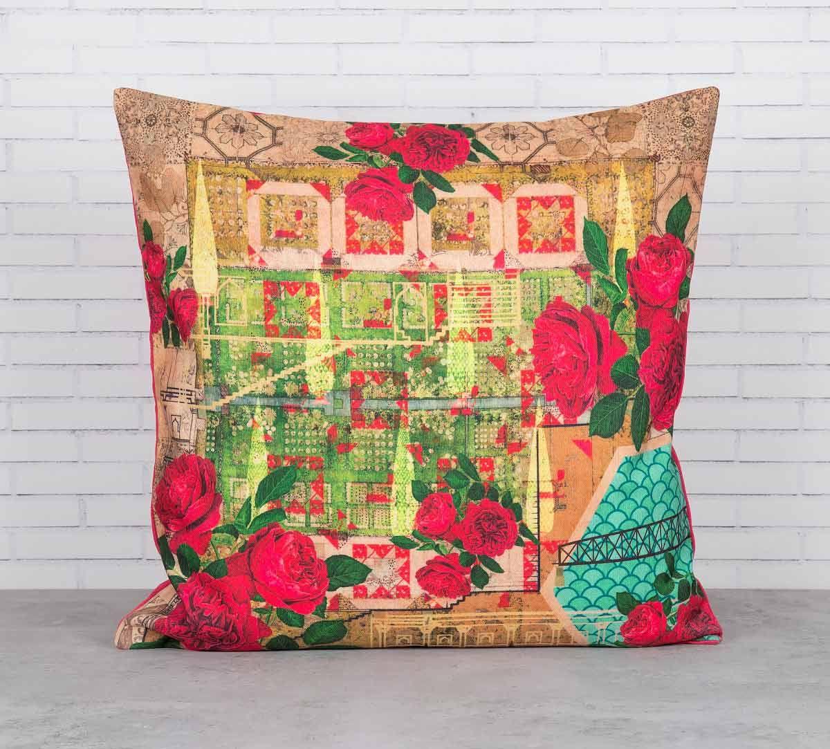 India Circus Rose Motley Cushion Cover