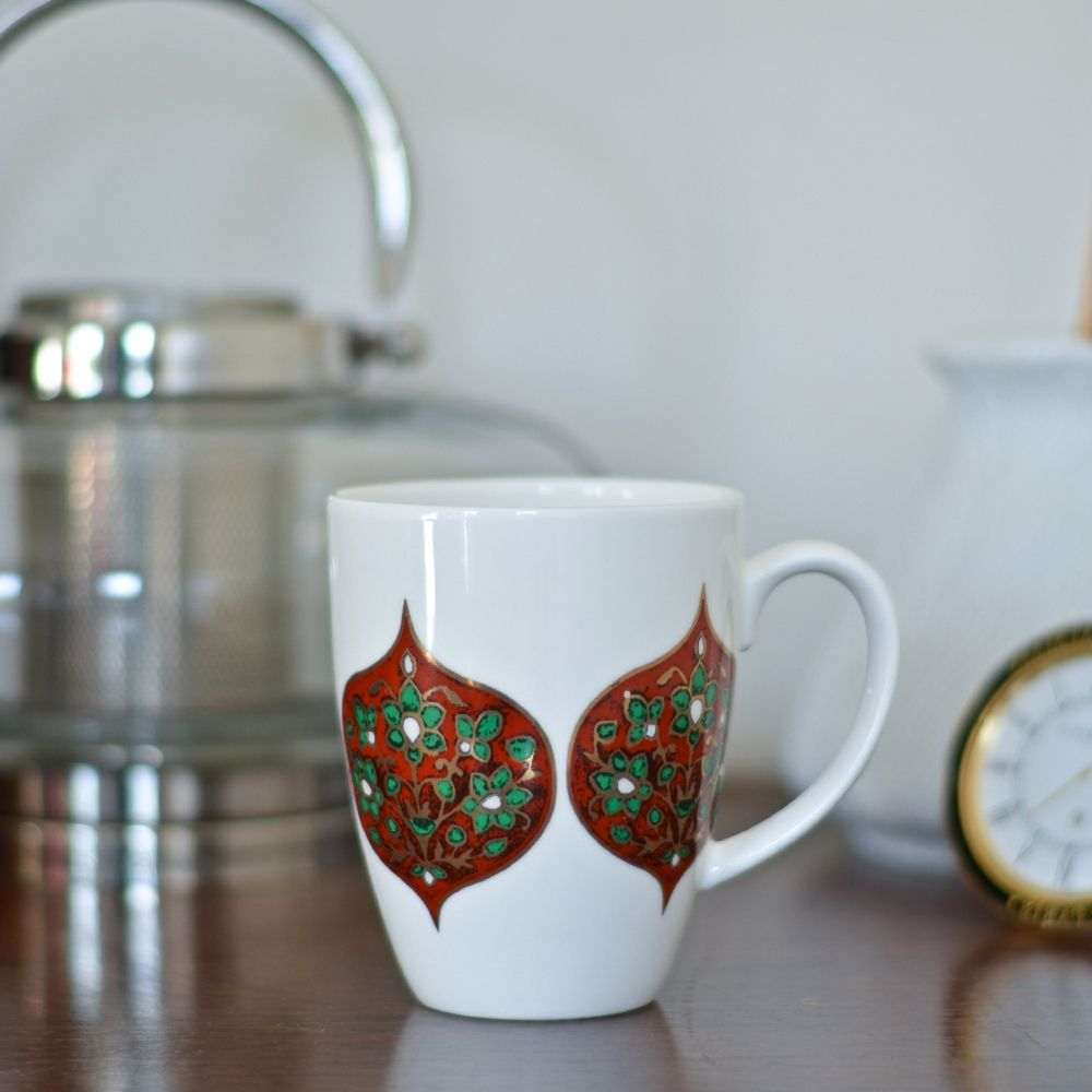 Tamara  Flower Diamonds Coffee Mug