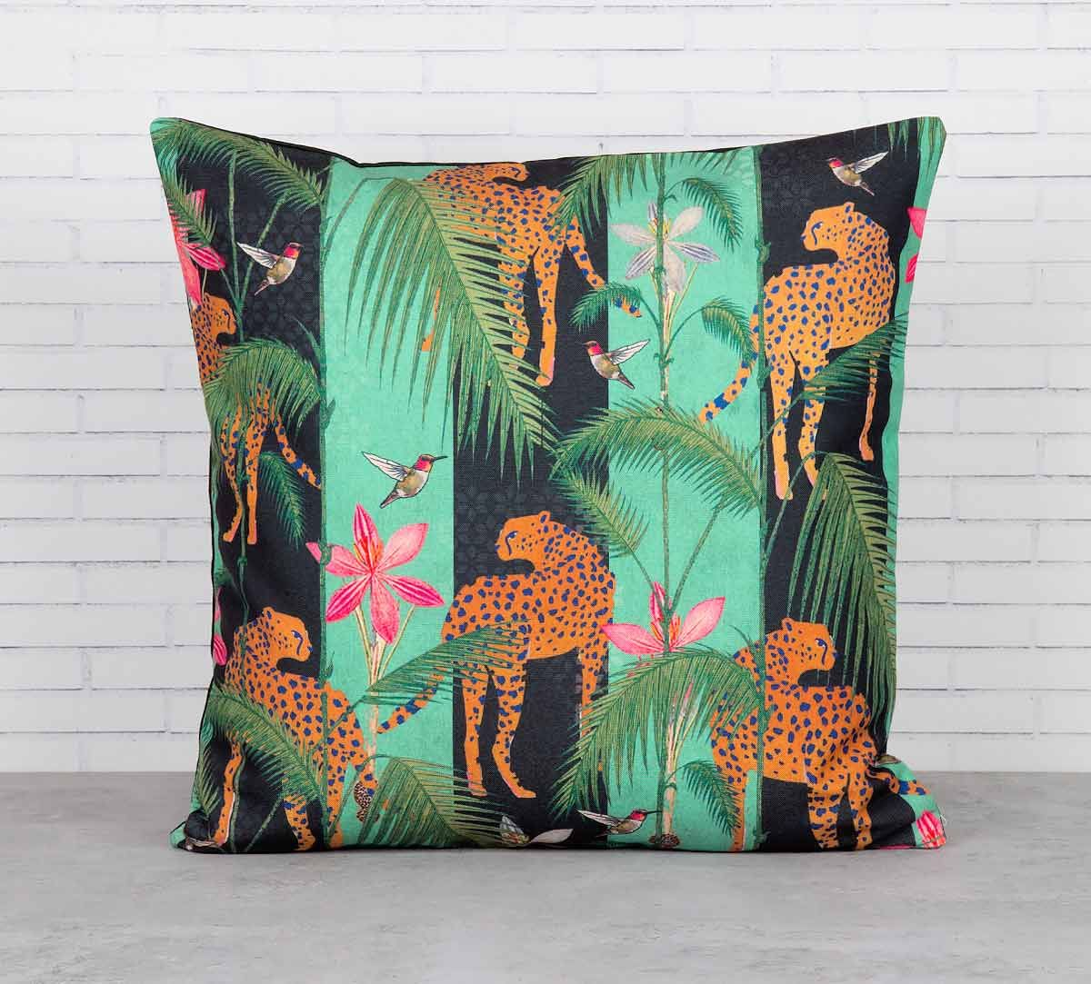 India Circus The Famished Cheetah Cushion Cover