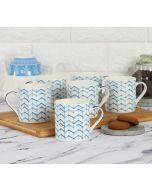 India Circus Zig Zag Stripes Coffee Mug Set of 6