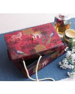 India Circus Call of the Wilderness Enameled Storage Box