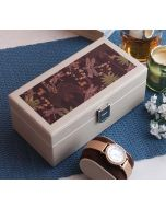 India Circus Palmeria Bloomer Leather Watch Box