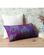"India Circus Eggplant Berry Pecker 16"" x 8"" Blended Taf Silk Cushion Cover"