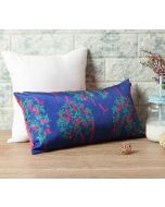 """India Circus Prussian Berry Pecker 16"""" x 8"""" Blended Taf Silk Cushion Cover"""