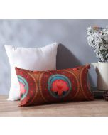 """India Circus Amber Platter Symmetry 16"""" x 8"""" Blended Taf Silk Cushion Cover"""