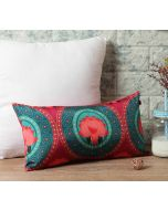 """India Circus Platter Symmetry 16"""" x 8"""" Blended Taf Silk Cushion Cover"""
