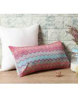 "India Circus Waves of Chevron 16"" x 8"" Blended Taf Silk Cushion Cover"