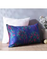 """India Circus Prussian Berry Pecker 20"""" x 12"""" Blended Taf Silk Cushion Cover"""