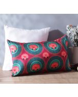 """India Circus Platter Symmetry 20"""" x 12"""" Blended Taf Silk Cushion Cover"""