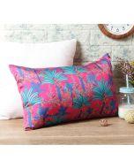 "India Circus Royal Palms 20"" x 12"" Blended Taf Silk Cushion Cover"