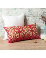 "India Circus Mystical Pomegranate 16"" x 8"" Blended Velvet Cushion Cover"