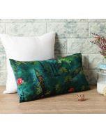 """India Circus Lake Florist 16"""" x 8"""" Blended Velvet Cushion Cover"""