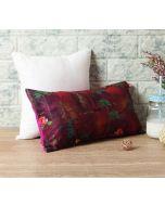 """India Circus Jam Lake Florist 16"""" x 8"""" Blended Velvet Cushion Cover"""