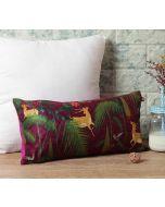 """India Circus Forest Fetish 16"""" x 8"""" Blended Velvet Cushion Cover"""