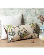 """India Circus Desert Plants 16"""" x 8"""" Blended Velvet Cushion Cover"""