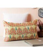 "India Circus Cream Mystical Pomegranate 20"" x 12"" Blended Velvet Cushion Cover"