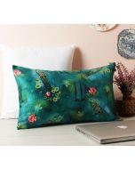 """India Circus Lake Florist 20"""" x 12"""" Blended Velvet Cushion Cover"""