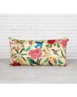 "India Circus Bird Land 16"" x 8"" Blended Taf Silk Cushion Cover"