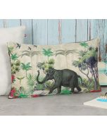 """India Circus by Krsnaa Mehta Manoeuvres in the Nature 12"""" x 20"""" Blended Velvet Cushion Cover"""