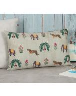 """India Circus by Krsnaa Mehta Poetic Disposition 12"""" x 20"""" Blended Velvet Cushion Cover"""