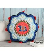 India Circus Eclectic Tusker Shaped Cushion
