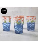 India Circus Flowers and Ferns Chai Glass (Set of 4)