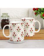 India Circus Grey Poppy Flower Coffee Mug