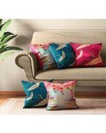 India Circus Lakeside Crane Flight Cushion Cover Set of 5