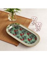 India Circus Mystic Rose Kettles Steel Serving Tray