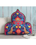 India Circus Peacock Psychedelic Shaped Cushion