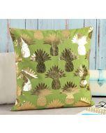 India Circus Pineapple Foil Cushion Cover