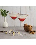 India Circus Pink Honeycomb Martini Glass (Set of 2)