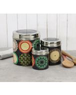 India Circus Platter Portrayal Steel Container (Set of 3)
