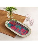 India Circus Royal Palms Steel Serving Tray