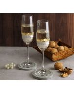 India Circus Silver Honeycomb Champagne Glass (Set of 2)