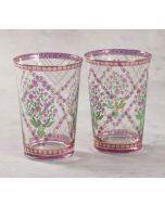 India Circus Spring Bloom Glass Tumbler Set of 2