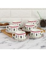 India Cirucs Appliqued Harmony Cup and Saucer (Set of 6)